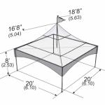 Warner Shelter Peak Marquee Tent 20' X 20' Image
