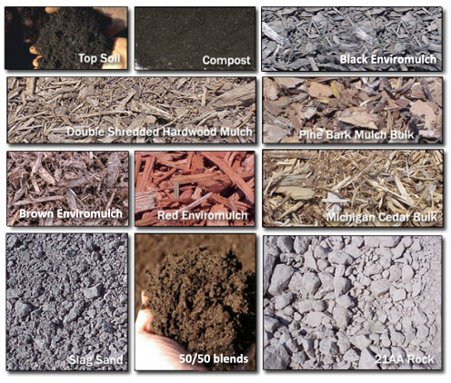 Just a sample of our mulch selection!