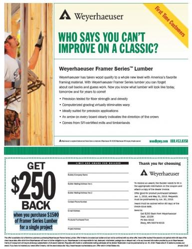 Weyerhaeuser Promotion