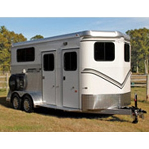 Kingston Classic Elite Plus All Aluminum Warm Blood 2-Horse w/Dressing Room Trailer