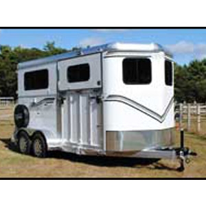 The Newport Classic All Aluminum 2-Horse with Side Unload