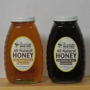 New Hampshire Honeybee Local Raw Honey