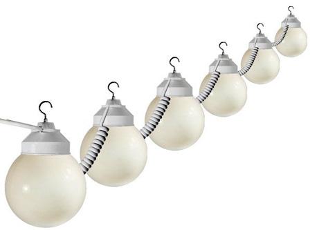 6 light strand globe lighting