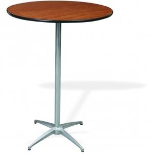 "P.S. 100 Series - 30"" di x ADJ ht Pedestal  Rd. Reception Table"