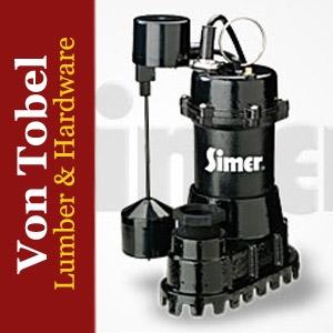 Take $80.00 Off 1/2 HP Simer Cast Iron Sump Pump