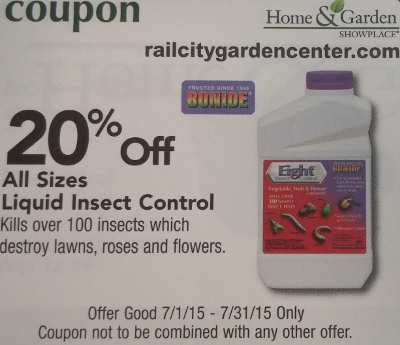 Calendar Coupon: 20% off Eight Insect Control