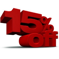 15% Off Any One Item