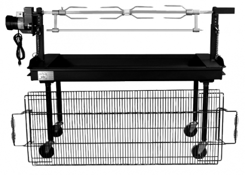 Charcoal Grill w/ Rotisserie Top