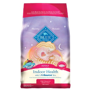 BLUE™ Indoor Health Salmon & Brown Rice Recipe For Adult Cats 7lb