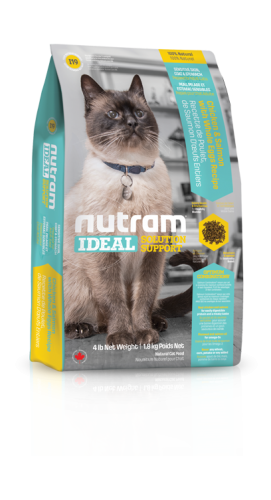 I19 Nutram Ideal Solution Support® Sensitive Skin, Coat and Stomach Natural Cat FoodChicken and Salmon with Whole Eggs Recipe