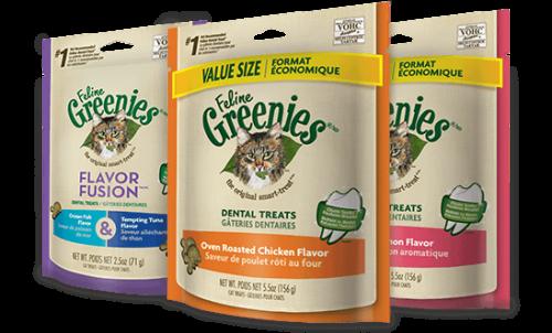 Feline Greenies Dental Treats - Oven Roasted Chicken 2.5 oz.