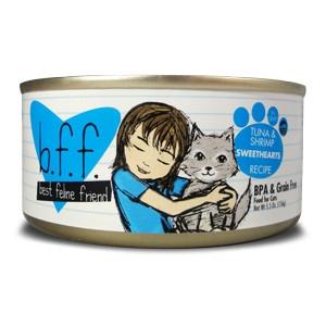 Weruva B.F.F. Tuna & Shrimp Sweethearts Cat Food 5.5oz Can