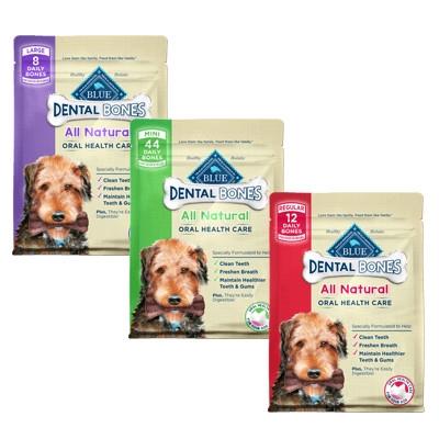 20% Off BLUE Bones Natural Dental Chew Dog Bones