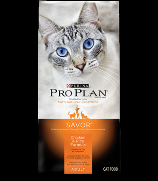 Purina Pro Plan Savor, Chicken and Rice Cat Food, Seven Pound Bag