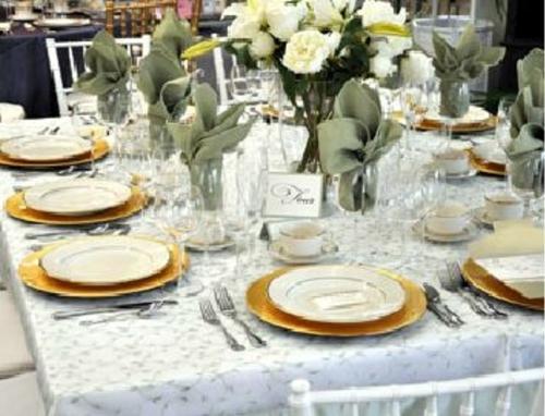 Party Plus Middletown Elegant White Wedding Reception Dishes