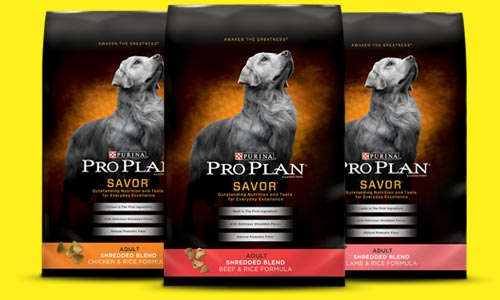 bags of Pro Plan dog food