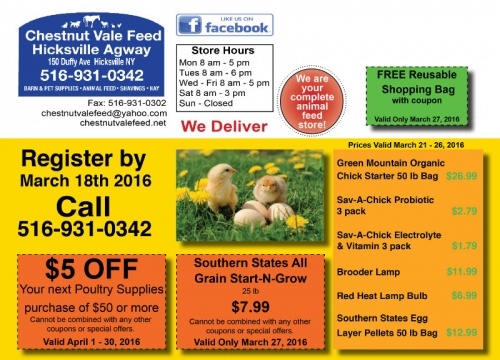 Chestnut Vale Feed's First Chick Days Seminar  Image