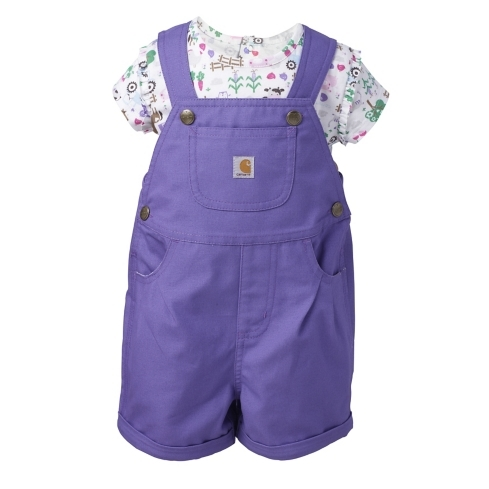 Infant/Toddler Canvas Shortall Set