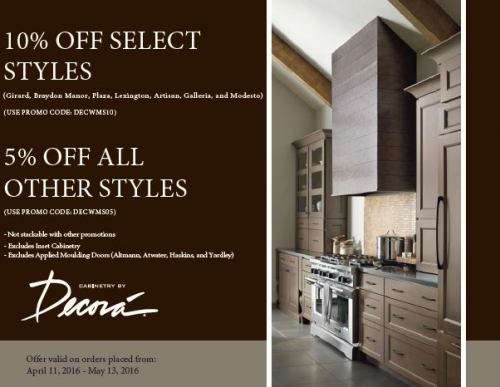 10% Off Select Decora Cabinets