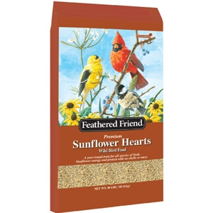 $2 Off Feathered Friend Sunflower Hearts 40lb.
