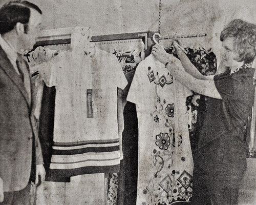 Jack and Carolyn Ward on their first day in business, March 1972