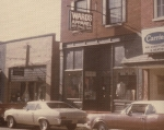 The store-front of the remodeled location, 1975