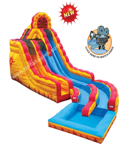 Fire & Ice Wet or Dry 2 Story Slide