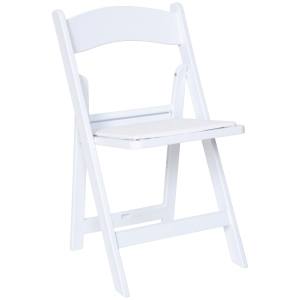 WOOD RESIN CHAIR, WHITE,