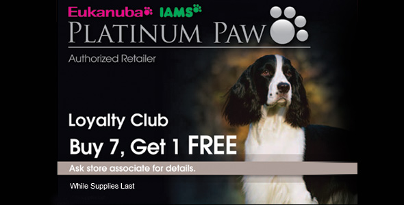 Platinum Paw Authorized Dealer