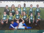 2010/2011 Fall Soccer Team- &#34;Wizards&#34;