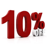 10% off Reservations of $100 or more
