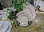 Dinnerware Silver Trim