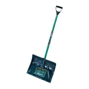 Alpine 18-Inch Poly Snow Shovel With Wood Handle