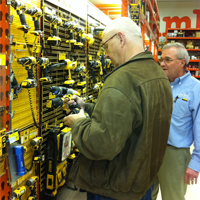 Wall of Drills Tool Department