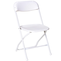 White Wedding Plastic Folding Chair