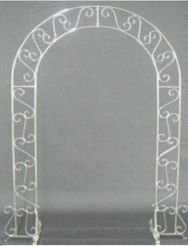 Wedding Arch White With Plant Stands Taylor Rental