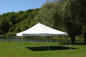 Pole Style Tent, 20 x 20 Canopy