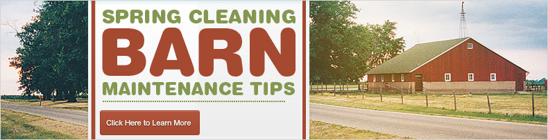 Spring cleaning barn tips