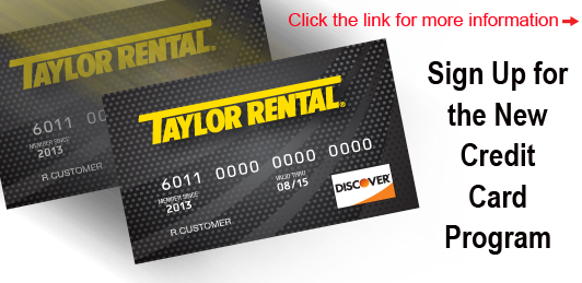 Taylor Rental Credit Card
