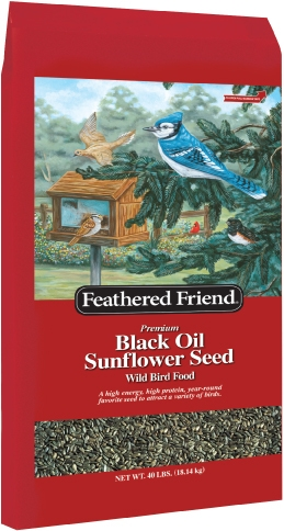 Feathered Friend Black Oil Seed 40lb $18.99