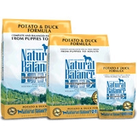 28lb Natural Balance Potato & Duck Now $42.99