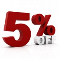 5% off any one item